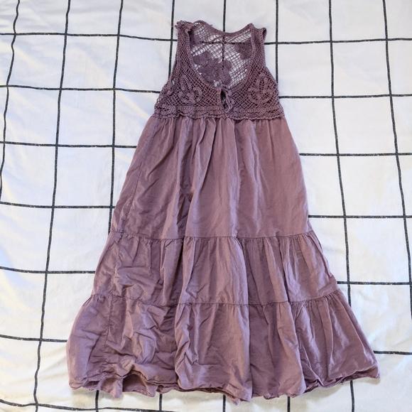 Crochet Lilac Dress